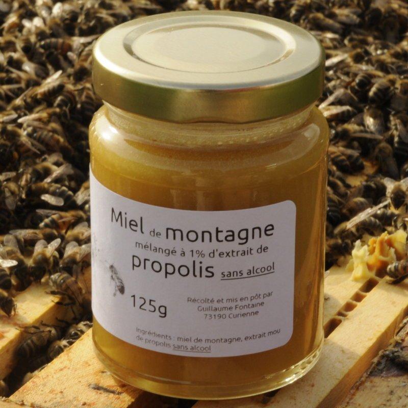 Miel mélangé à de l'extrait de propolis